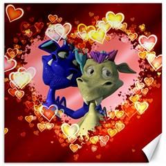 Ove Hearts Cute Valentine Dragon Canvas 20  x 20