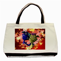 Ove Hearts Cute Valentine Dragon Basic Tote Bag (Two Sides)