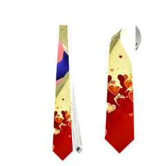 Ove Hearts Cute Valentine Dragon Neckties (One Side)