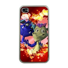 Ove Hearts Cute Valentine Dragon Apple iPhone 4 Case (Clear)