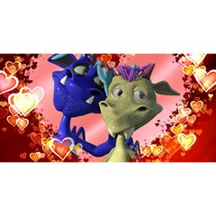 Ove Hearts Cute Valentine Dragon YOU ARE INVITED 3D Greeting Card (8x4)