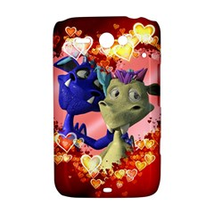 Ove Hearts Cute Valentine Dragon HTC ChaCha / HTC Status Hardshell Case