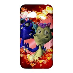 Ove Hearts Cute Valentine Dragon HTC Droid Incredible 4G LTE Hardshell Case