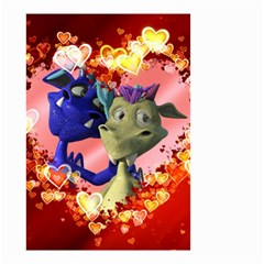 Ove Hearts Cute Valentine Dragon Small Garden Flag (Two Sides)