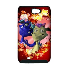 Ove Hearts Cute Valentine Dragon Samsung Galaxy Note 2 Hardshell Case (PC+Silicone)