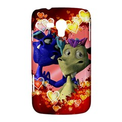 Ove Hearts Cute Valentine Dragon Samsung Galaxy Duos I8262 Hardshell Case