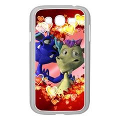 Ove Hearts Cute Valentine Dragon Samsung Galaxy Grand DUOS I9082 Case (White)