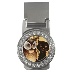 Owl And Black Cat Money Clips (CZ)