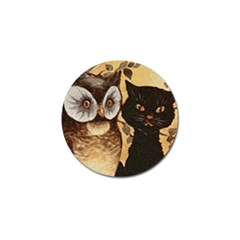Owl And Black Cat Golf Ball Marker (10 pack)
