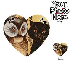 Owl And Black Cat Playing Cards 54 (Heart)