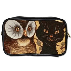 Owl And Black Cat Toiletries Bags