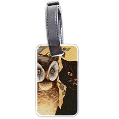 Owl And Black Cat Luggage Tags (One Side)