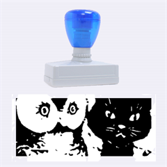 Owl And Black Cat Rubber Stamps (Large)