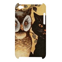 Owl And Black Cat Apple iPod Touch 4