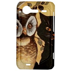 Owl And Black Cat HTC Incredible S Hardshell Case