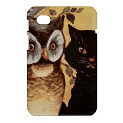 Owl And Black Cat Samsung Galaxy Tab 7  P1000 Hardshell Case