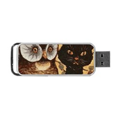 Owl And Black Cat Portable USB Flash (Two Sides)