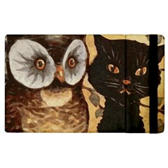 Owl And Black Cat Apple iPad 3/4 Flip Case
