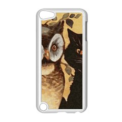 Owl And Black Cat Apple iPod Touch 5 Case (White)