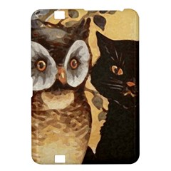 Owl And Black Cat Kindle Fire HD 8.9