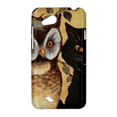 Owl And Black Cat HTC Desire VC (T328D) Hardshell Case