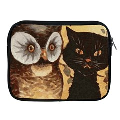 Owl And Black Cat Apple iPad 2/3/4 Zipper Cases