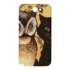 Owl And Black Cat Samsung Note 2 N7100 Hardshell Back Case