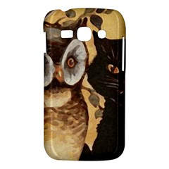 Owl And Black Cat Samsung Galaxy Ace 3 S7272 Hardshell Case