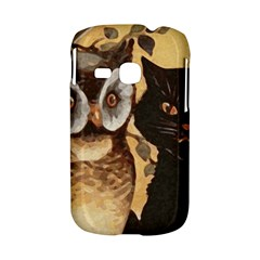 Owl And Black Cat Samsung Galaxy S6310 Hardshell Case