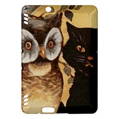 Owl And Black Cat Kindle Fire HDX Hardshell Case