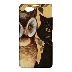 Owl And Black Cat Sony Xperia Z1 Compact