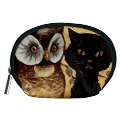 Owl And Black Cat Accessory Pouches (Medium)