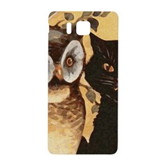 Owl And Black Cat Samsung Galaxy Alpha Hardshell Back Case