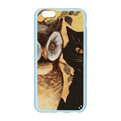 Owl And Black Cat Apple Seamless iPhone 6/6S Case (Color)