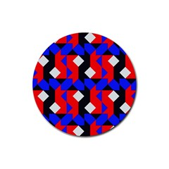 Pattern Abstract Artwork Rubber Round Coaster (4 pack)
