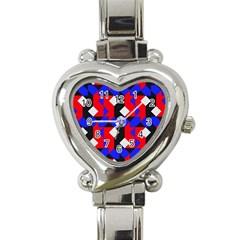 Pattern Abstract Artwork Heart Italian Charm Watch
