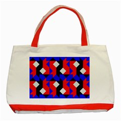 Pattern Abstract Artwork Classic Tote Bag (Red)