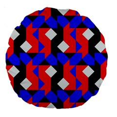 Pattern Abstract Artwork Large 18  Premium Round Cushions