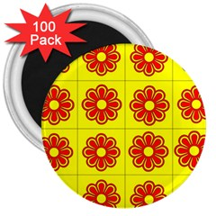 Pattern Design Graphics Colorful 3  Magnets (100 pack)