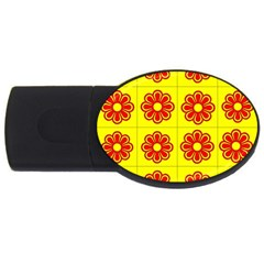 Pattern Design Graphics Colorful USB Flash Drive Oval (1 GB)