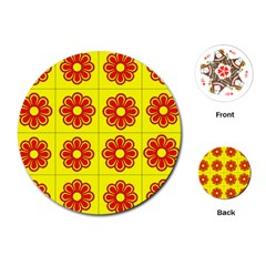Pattern Design Graphics Colorful Playing Cards (Round)
