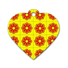 Pattern Design Graphics Colorful Dog Tag Heart (One Side)