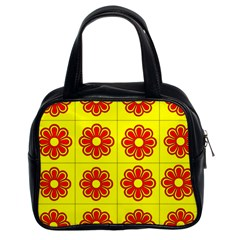 Pattern Design Graphics Colorful Classic Handbags (2 Sides)