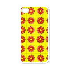 Pattern Design Graphics Colorful Apple iPhone 4 Case (White)