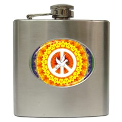Peace Art Artwork Love Dove Hip Flask (6 oz)
