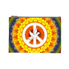 Peace Art Artwork Love Dove Cosmetic Bag (Large)