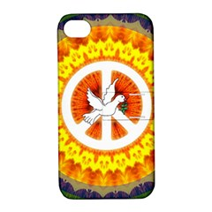 Peace Art Artwork Love Dove Apple iPhone 4/4S Hardshell Case with Stand