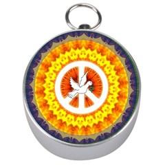 Peace Art Artwork Love Dove Silver Compasses