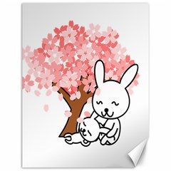 Rabbit Bunnies Animal Cute Tree Canvas 12  x 16