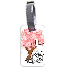 Rabbit Bunnies Animal Cute Tree Luggage Tags (Two Sides)